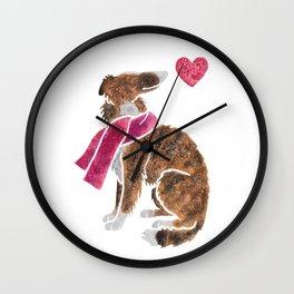 Watercolour Borzoi Wall Clock
