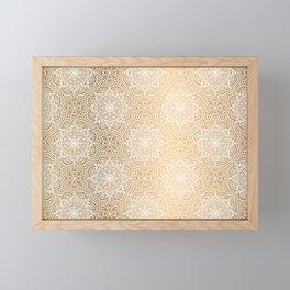 Gold Mandala 18 Framed Mini Art Print