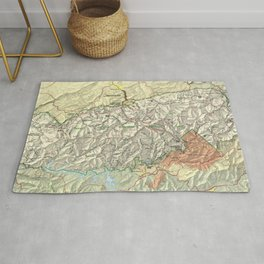 The Great Smoky Mountains National Park Map (1997) Rug