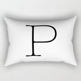 Letter P Typewriting Rectangular Pillow