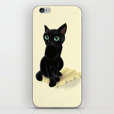 Black little kitty iPhone & iPod Skin