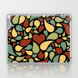 Heart surrounded by drops black pattern Laptop & iPad Skin