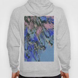 feather texture in blue and light pink Hoody