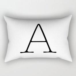 Letter A Typewriting Rectangular Pillow