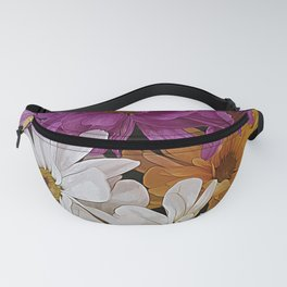 Blossoming chrysanthemums Fanny Pack