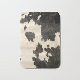 Black & White Cow Hide Bath Mat