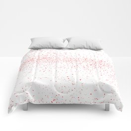 Red Fleck Comforters