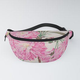 Barrier Mountain Cherry Blossoms Watercolor Fanny Pack