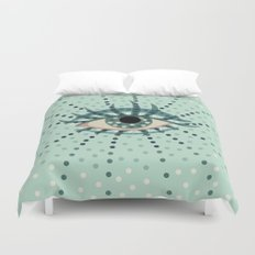 Dots And Abstract Eye Duvet Cover