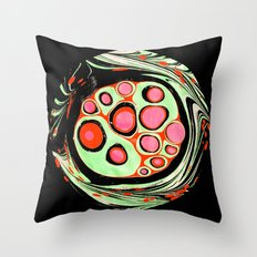 Psychedelic Circle Throw Pillow