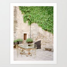 Gilded and Green Art Print