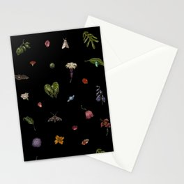 Nocturnal Floral Stationery Cards