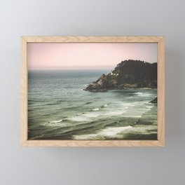 Pacific Northwest Grandeur - Heceda Lighthouse Framed Mini Art Print