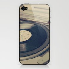 Vintage Turntable and Records  iPhone & iPod Skin