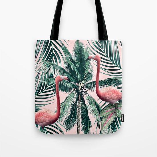 Flamingo tropics Tote Bag