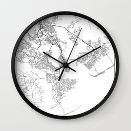 Minimal City Maps - Map Of Charleston, South Carolina, United States Wall Clock