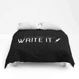 Writing urges #1 Comforters