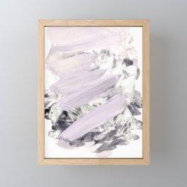 soft pink on grey Framed Mini Art Print