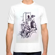 Sherlock MEDIUM Mens Fitted Tee White
