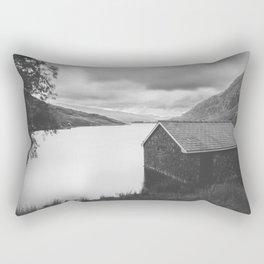 Llyn  Ogwen Boathouse Rectangular Pillow