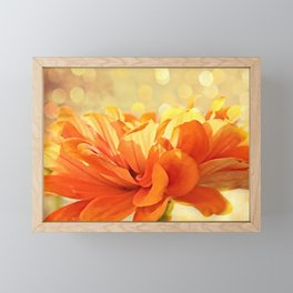 Glowing Marigold Framed Mini Art Print