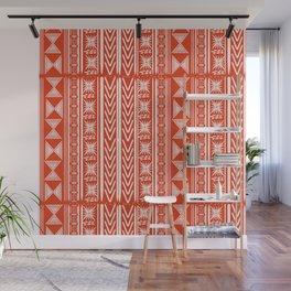Boho Mud Cloth (Coral) Wall Mural