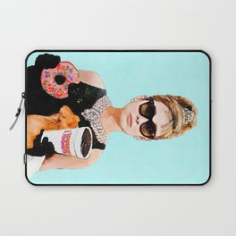 Breakfast at Dunkin Donuts - Audrey Hepburn Laptop Sleeve