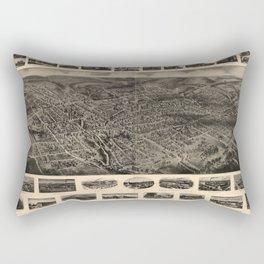 Bird's Eye View of Bristol, Connecticut (1907) Rectangular Pillow