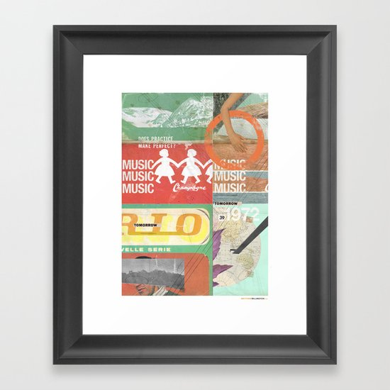 Music, Music, Music Framed Art Print