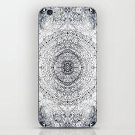 Black&white Mandala - & Grey Blue iPhone Skin