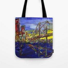 Philly Skyline with Ben Franklin Bridge Tote Bag