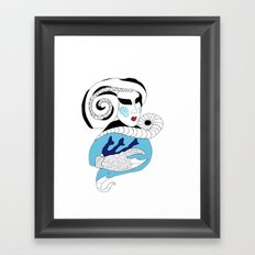 Cancer / 12 Signs of the Zodiac Framed Art Print