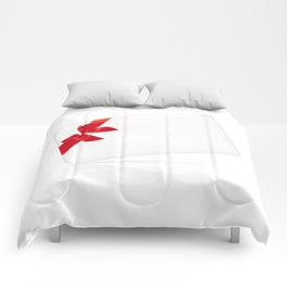 Card with red bow Comforters