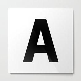 Letter A (Black & White) Metal Print