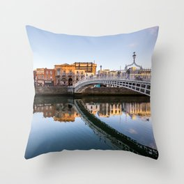River Liffey Reflections Throw Pillow