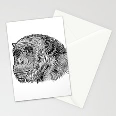 Chimp with a Pearl Earring Stationery Cards