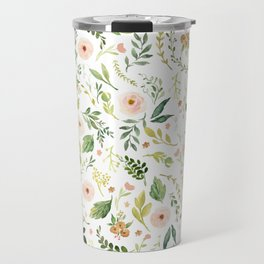 Botanical Spring Flowers Travel Mug