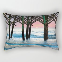 Sunrise Under Pier Rectangular Pillow