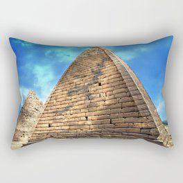 Kush Empire pyramids - Jebel Barkal - Sudan Rectangular Pillow