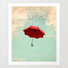 Chasing clouds Art Print