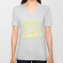 Word Game Outstanding Outstanding funny gift Unisex V-Neck