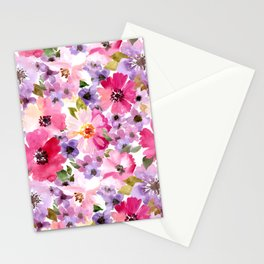 FLOWERS WATERCOLOR 6 Stationery Cards