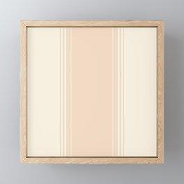 Chamomile & Crème Vertical Gradient Framed Mini Art Print