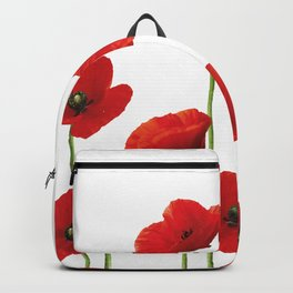Poppies Field white background Backpack