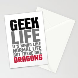 Geek Life Funny Saying Stationery Cards