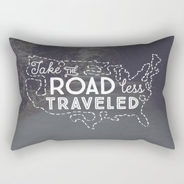 Take the Road Less Traveled Rectangular Pillow