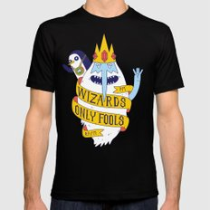 Wizards Only Fools Mens Fitted Tee Black LARGE