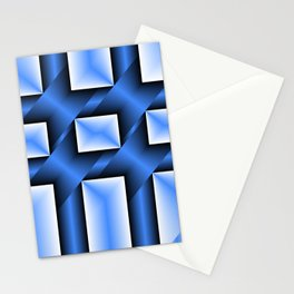 abstract pattern in metal Stationery Cards