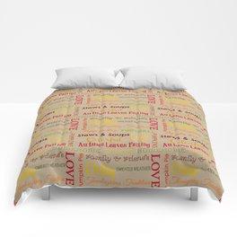 Autumn Phrases Comforters
