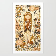 The Queen of Pentacles Art Print